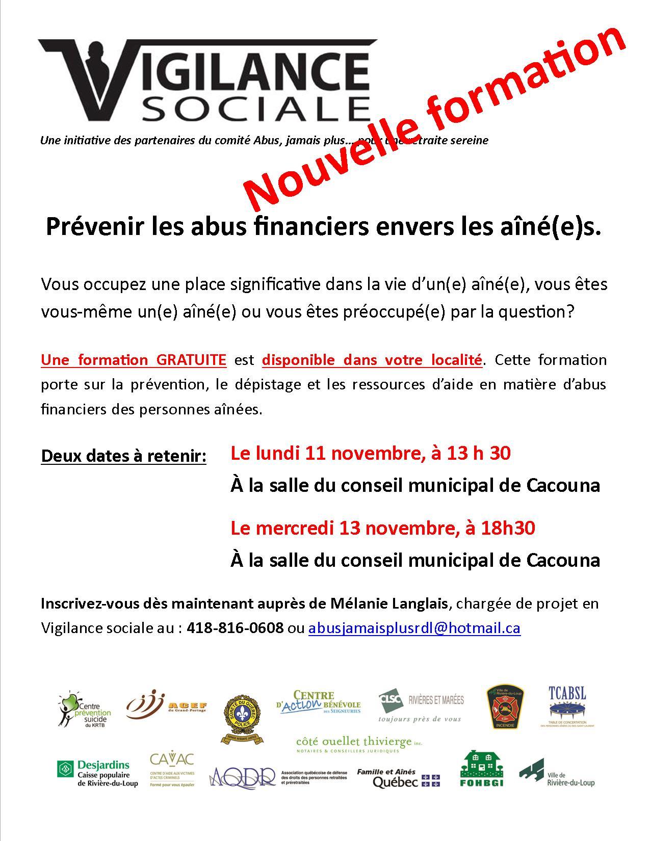 Abus financiers Vigilance Sociale